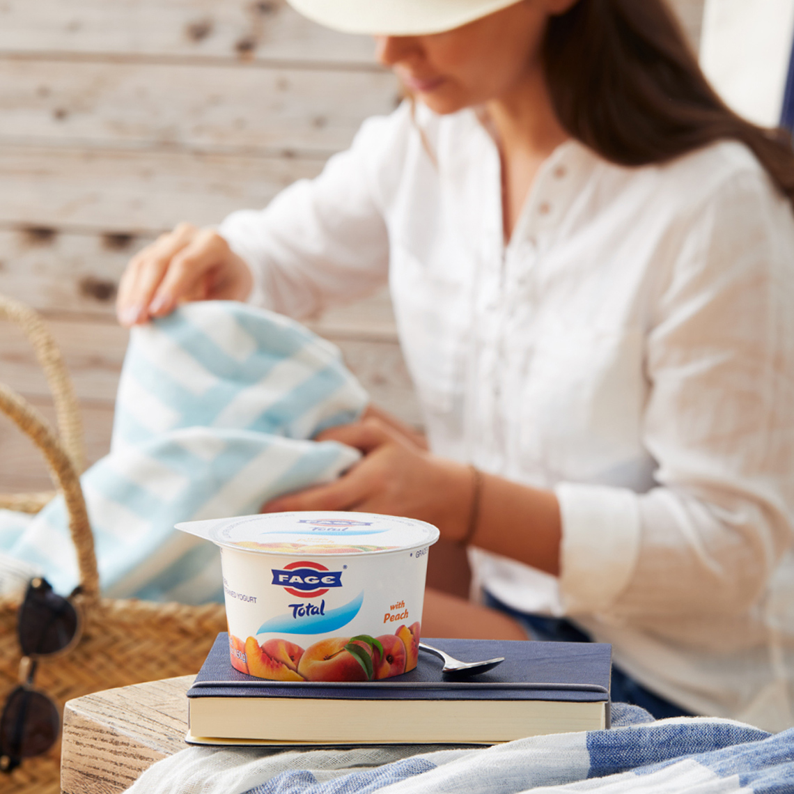 Fage Yogurt Beach Tote