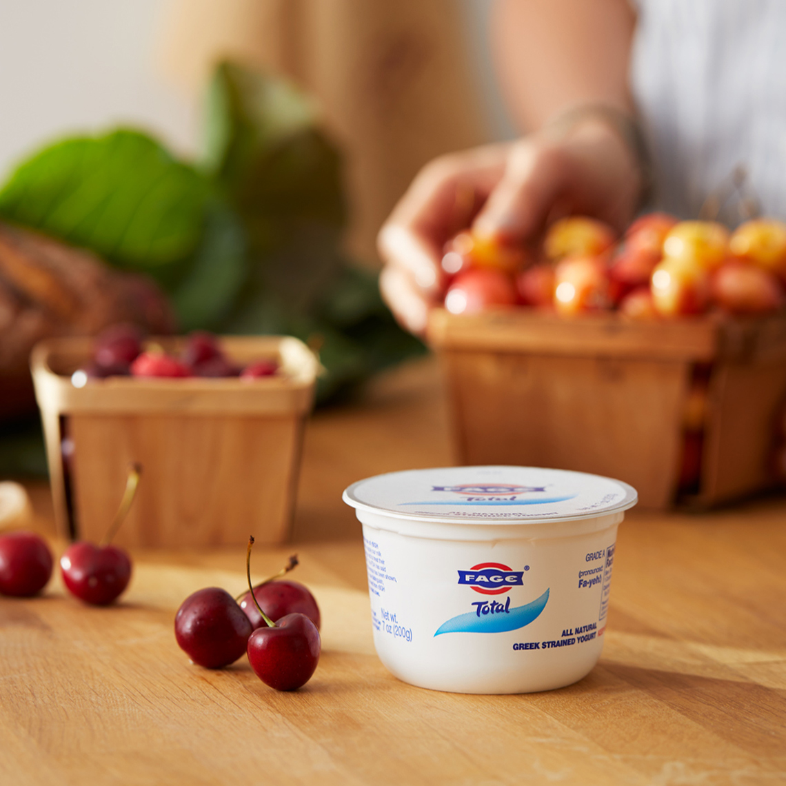 Fage Total Farmers Market Cherries