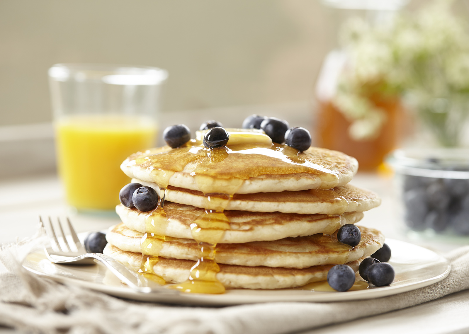 Pancake Blueberries Breakfast